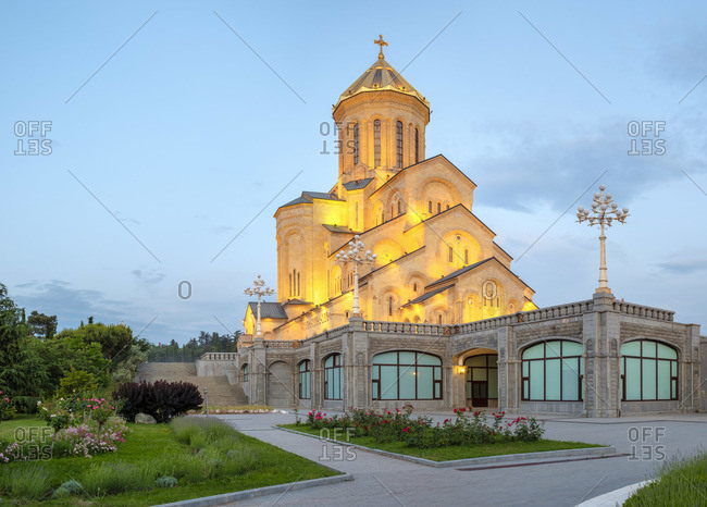 June 6, 2019: Holy Trinity Cathedral, Tbilisi (Tiflis), Georgia.