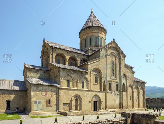 June 4, 2019: Svetitskhoveli Cathedral, Mtskheta, Mtskheta-Mtianeti, Georgia.