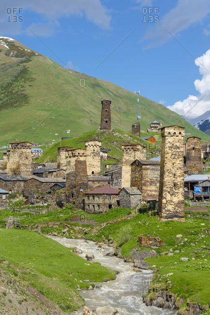 Chazhashi village, Ushguli, Samegrelo-Zemo Svaneti region, Georgia.