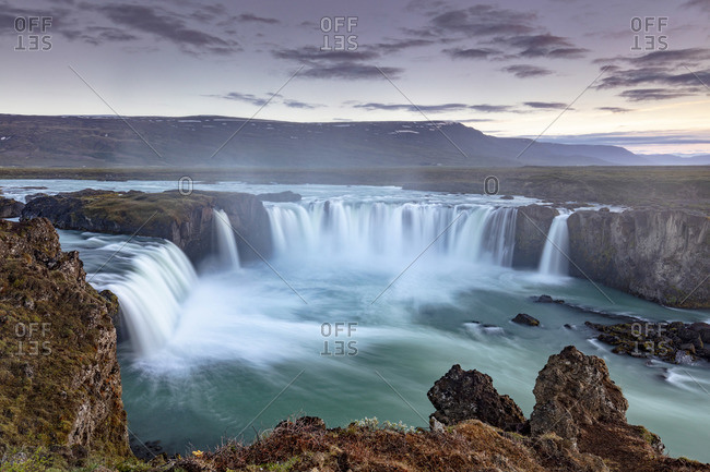 Iceland, Myvatn,  Go�afoss, Godafoss, waterfalls of the gods