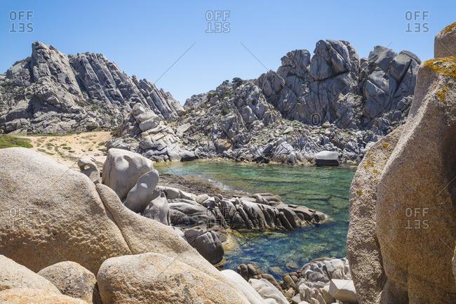 Italy, Sardinia, Santa Teresa Gallura, Capo Testa, Cala Grande also know as Moon Valley