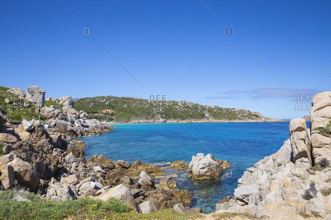 Italy, Sardinia, Santa Teresa Gallura, Rocky coastline at Rena Bianca