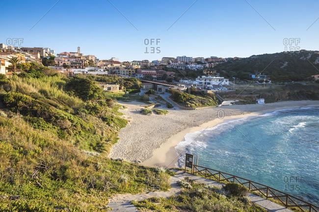 May 30, 2019: Italy, Sardinia, Santa Teresa Gallura, Rena Bianca beach
