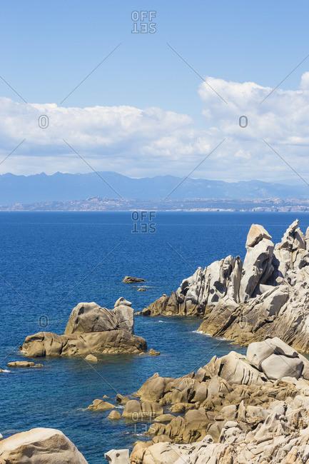 Italy, Sardinia, Santa Teresa Gallura, Rocky coastline at Capo Testa