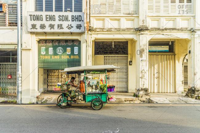 March 7, 2019: Street scene in Georgetown, Penang Island, malaysia,Southeast Asia