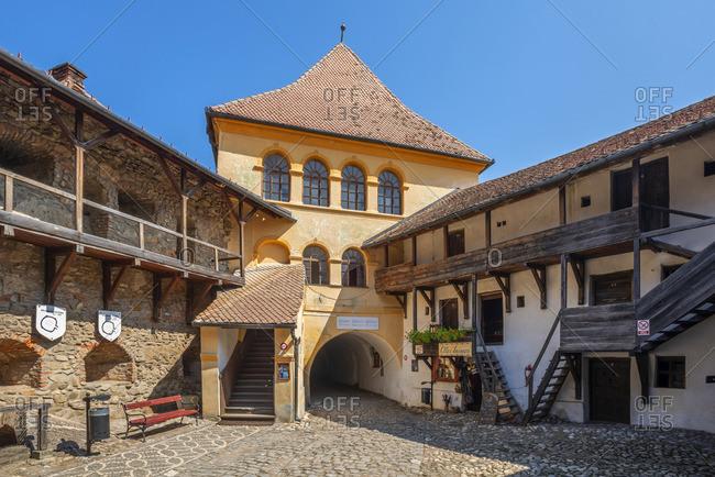 August 18, 2019: Fortified church of Prejmer, Transylvania, Romania