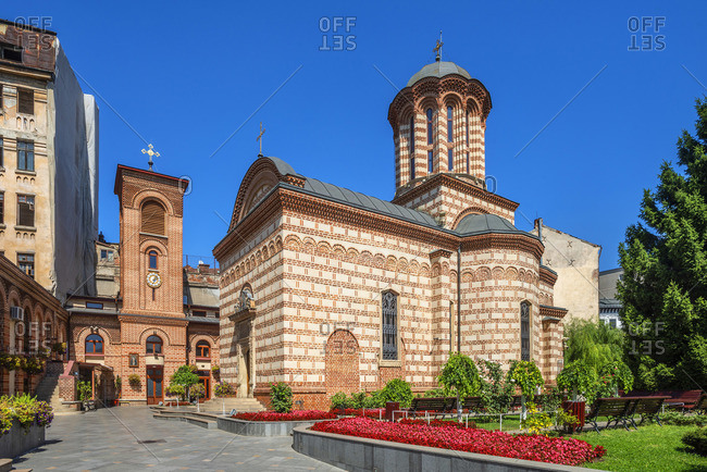 August 31, 2019: St. Antony Old Princely Church, Bucharest, Walachia, Romania