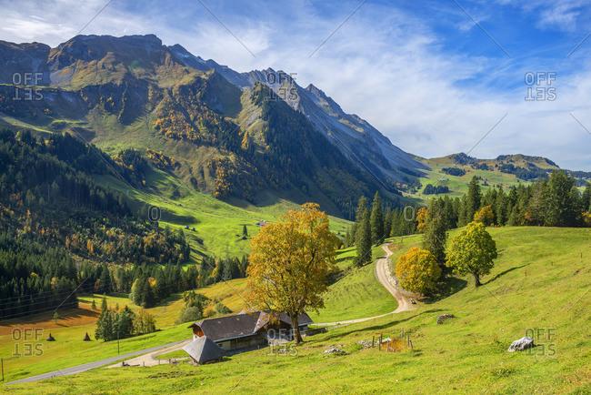 View from Glaubielen pass at Brienzer Rothorn, Obwalden, Switzerland