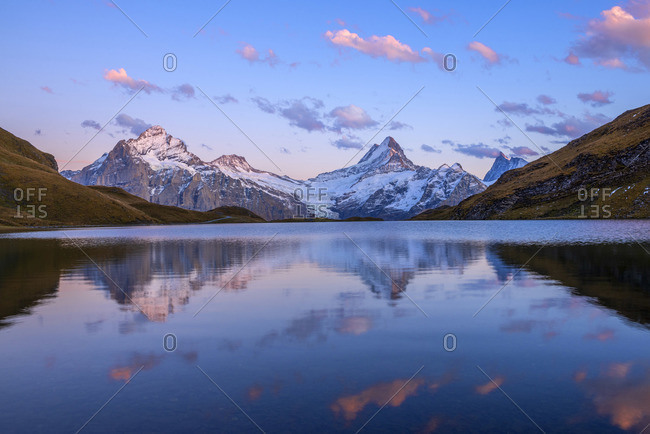 Dusk at Bachalpsee, Grindelwald, Berner Oberland, Switzerland