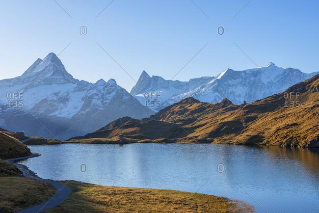 Morning view on Bachalpsee, Grindelwald, Berner Oberland, Switzerland
