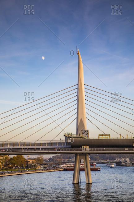 Halic Metro Bridge, Golden Horn, Istanbul, Turkey