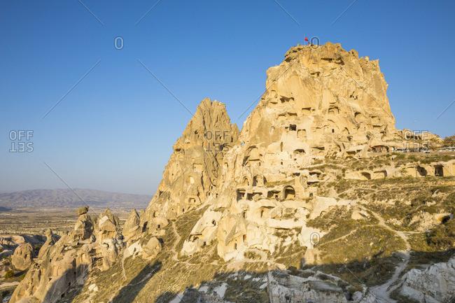 Uchisar castle, Uchisar, near Goreme, Cappadocia, Nevsehir Province, Central Anatolia, Turkey