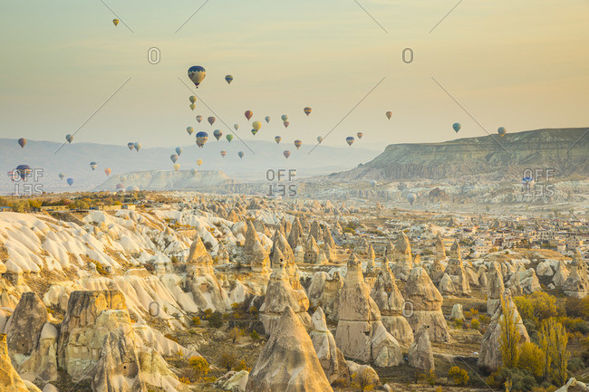 November 11, 2019: Cappadocia, Nevsehir Province, Central Anatolia, Turkey