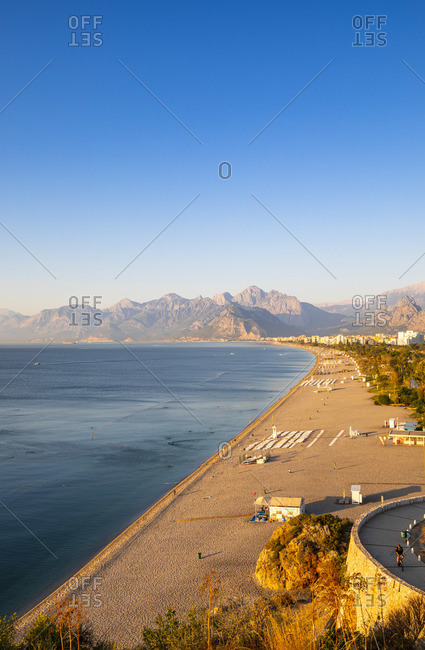 October 21, 2019: Konyaalti Beach, Antalya, Turkey