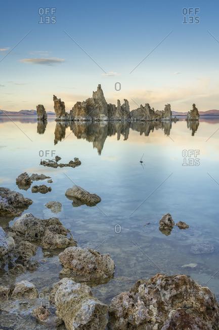 Rock formation at South Tufa, Mono Lake, Mono County, Sierra Nevada, Eastern California, California, USA