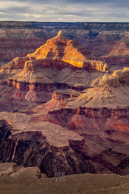 Grand Canyon at sunset, Yavapai Point, Grand Canyon National Park, Arizona, USA