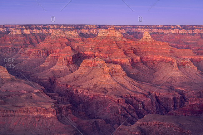 Scenic view of Grand Canyon at sunset, Hopi Point, Grand Canyon National Park, Arizona, USA