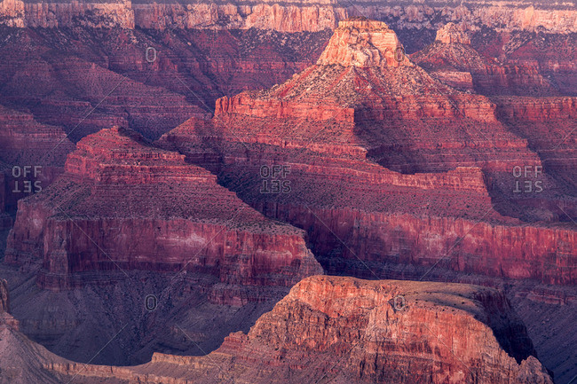 Scenic view of Grand Canyon at dusk, Hopi Point, Grand Canyon National Park, Arizona, USA