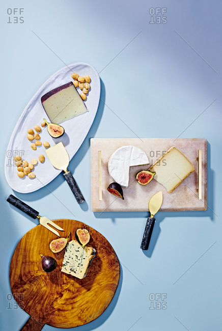 Overhead view of gourmet Cheese Platter