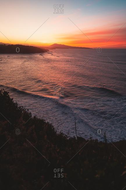 Beautiful sunset on the Atlantic Ocean