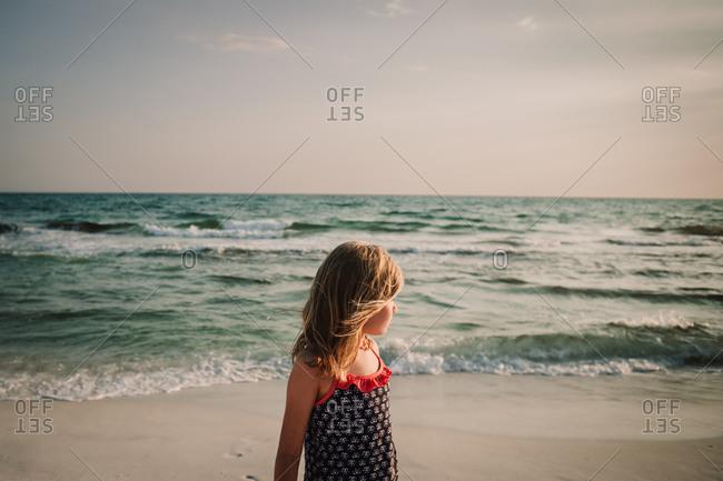 Girl on the beach, Santa Rosa Beach, Florida