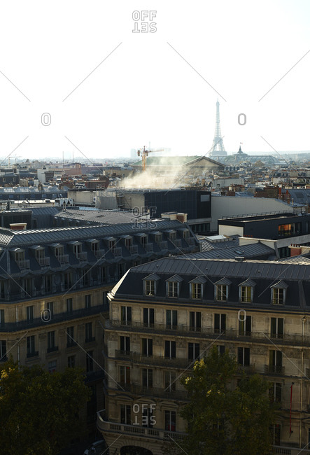 Paris rooftop view during the afternoon