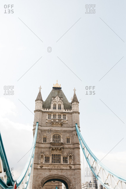 Low angle view of the Tower Bridge in London, England