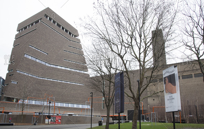 London, England, United Kingdom - February 2, 2018: Exterior view of Switch House, Tate Modern in London