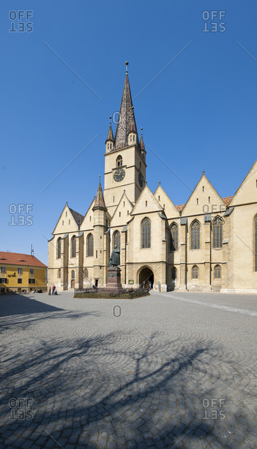Romania, Timisoara - March 12, 2011: View of a cathedral