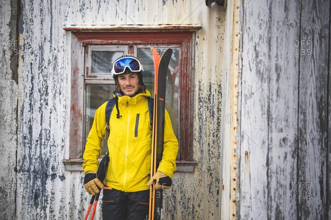 Portrait of male skier.