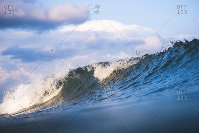 Blue wave ocean textures