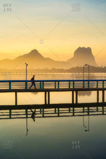 Calm sunrise in Burma