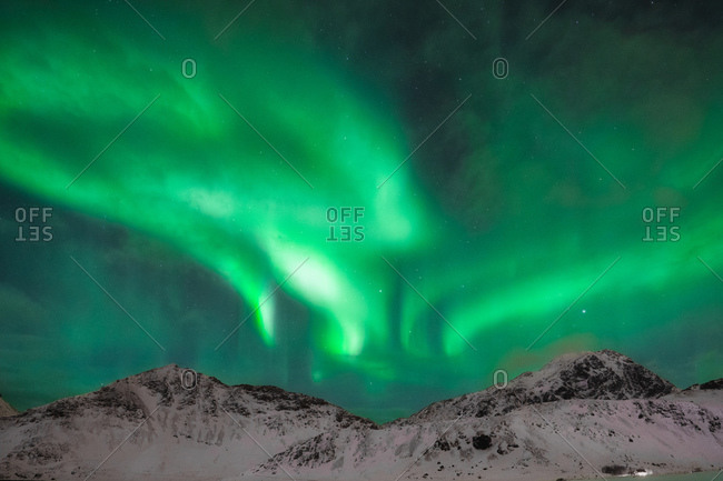 Northern lights in the skies of norway