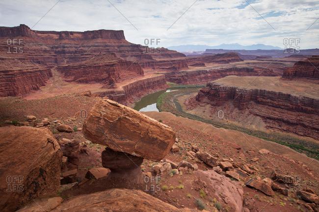 Balancing rock & colorado river canyonlands national park