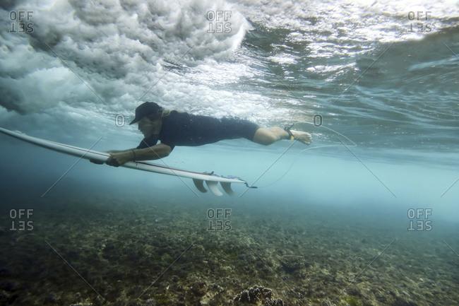 Underwater view of surfer - Offset