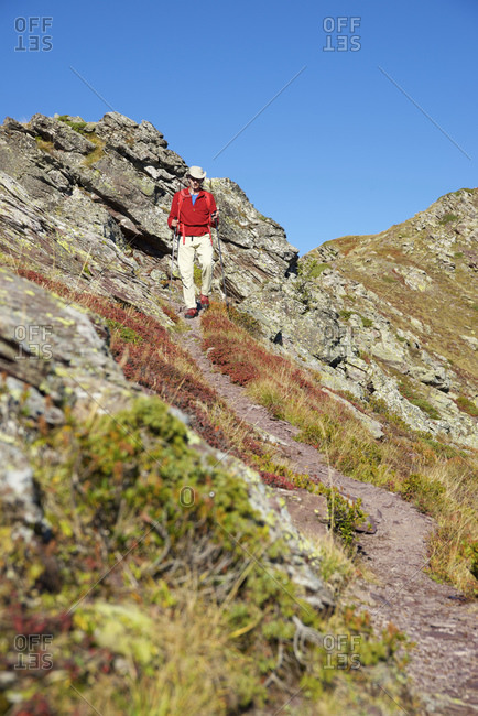 Hiker in the pyrenees