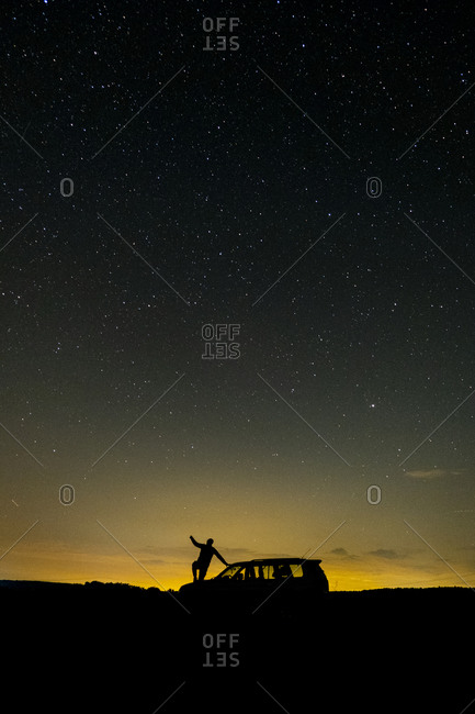 Photograph of the milky way on a summer night