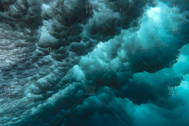 Indonesia- Subawa- Underwater view of wave
