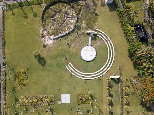 Indonesia- Bali- Nusa Dua- Aerial view of open air scene