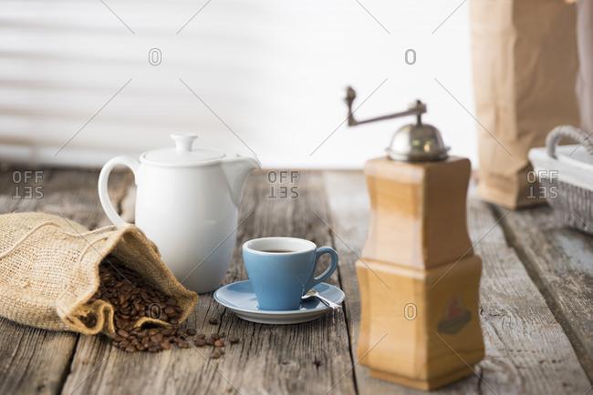 Germany- Upper Bavaria- Bavaria- Coffee still life
