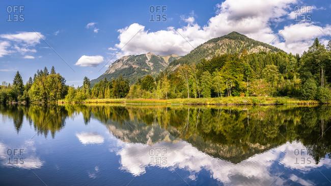 Germany- Bavaria- Allgau Alps- Oberstdorf- Moorweiher in mountain landscape