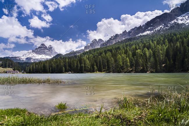 Italy- Veneto- Sexten Dolomites- Lake Misurina and Tre Cime di Lavaredo