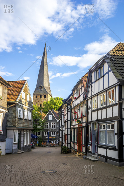 January 15, 2020: Germany- North Rhine-Westphalia- Kettwig- Old town