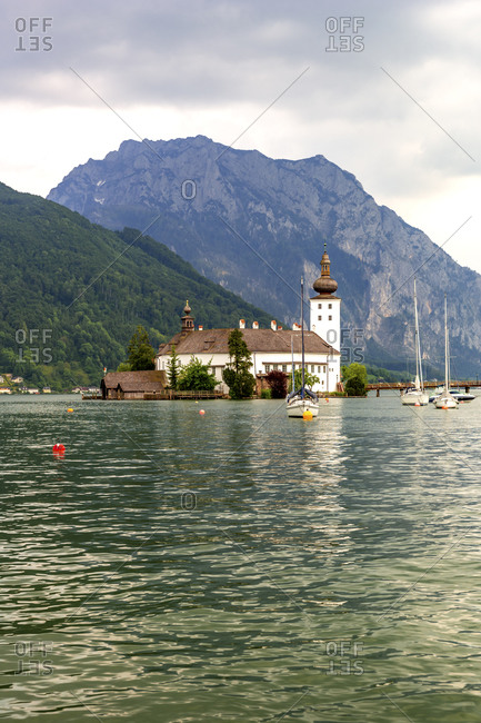 January 15, 2020: Austria- Gmunden- Ort castle on Traunsee