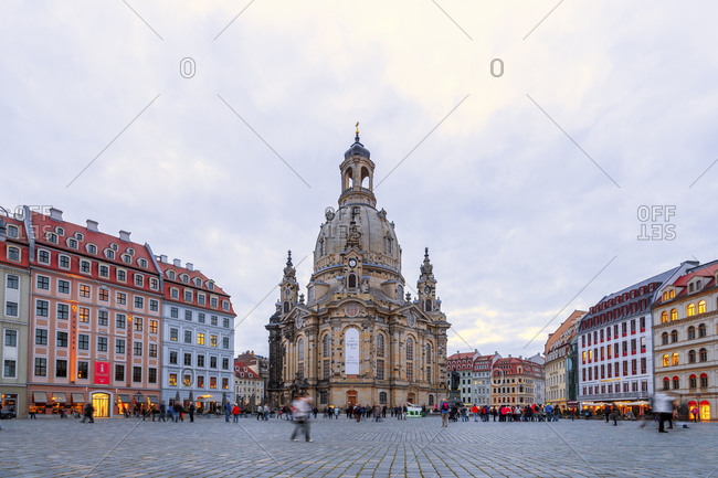 January 15, 2020: Germany- Saxony- Dresden- Frauenkirche exterior