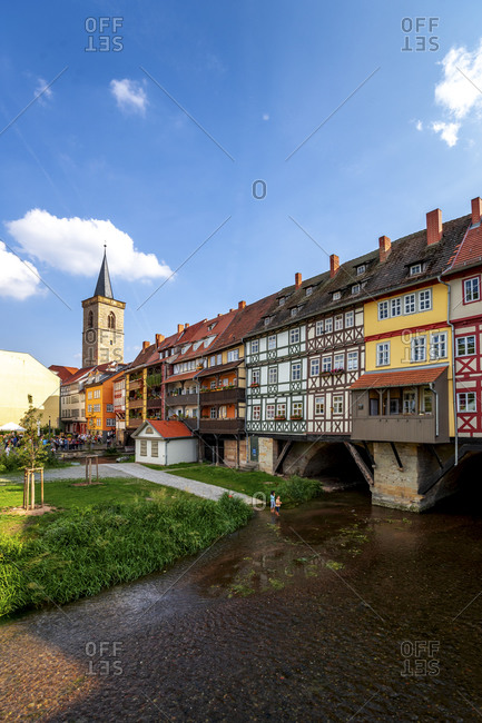 January 15, 2020: Germany- Thuringia- Erfurt- Kramerbrucke