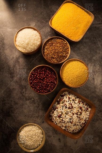 Close up of many grain