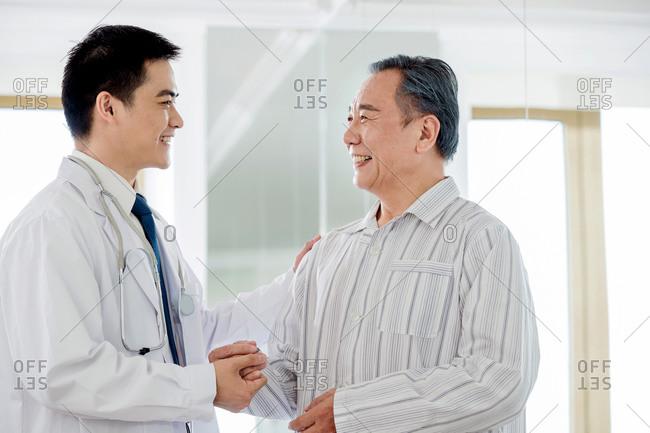 Doctor meets his patient - Offset