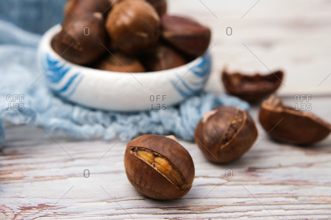 Close up of Chinese chestnut