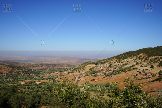 Landscape of  Atlas Mountains in Morocco, Africa